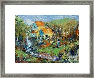 By The River Framed Print by Aline Halle-Gilbert