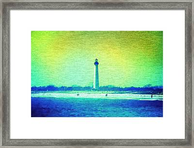 By The Sea - Cape May Lighthouse Framed Print by Bill Cannon