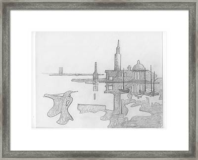 By The Sea Framed Print by David Holmes