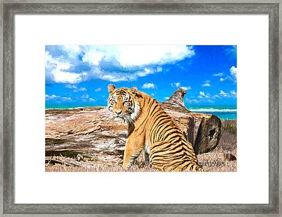By The Sea Framed Print by Judy Kay