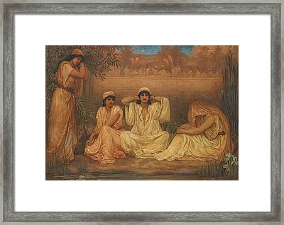By The Waters Of Babylon They Sat Down And Wept Framed Print by Kate Gardiner Hastings