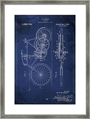 Bycicle Patent From 1920 Framed Print by Pablo Franchi