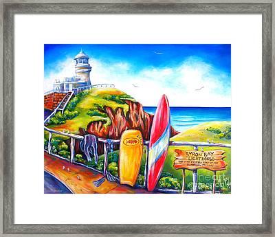 Byron Bay Lighthouse Framed Print by Deb Broughton