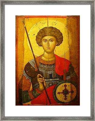 Byzantine Knight Framed Print by Ellen Henneke