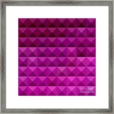 Byzantine Purple Abstract Low Polygon Background Framed Print by Aloysius Patrimonio