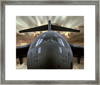 C-17 Globemaster Military Transport Aircraft Framed Print by Daniel Hagerman