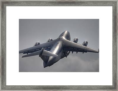 C-17 Liftoff Framed Print by Bill Lindsay