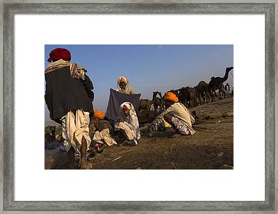 C A M P. Pushkar Framed Print by Claude Renault