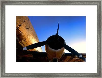 C47 Sunset Framed Print by Olivier Le Queinec