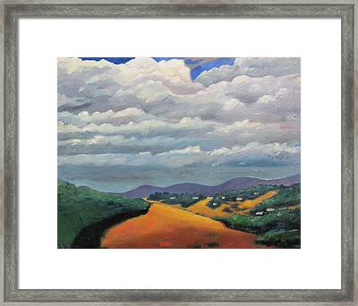 Ca Cloudscape Framed Print by Gary Coleman