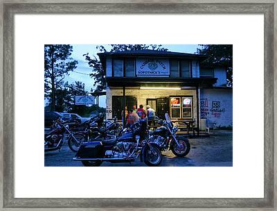 Cabbage Patch Bikers Bar Framed Print by Kristin Elmquist