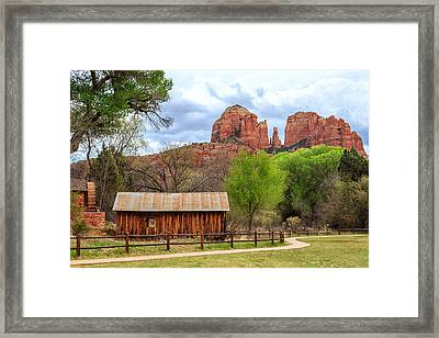 Cabin At Cathedral Rock Framed Print by James Eddy