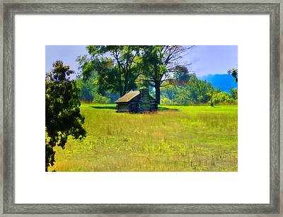 Cabin At Valley Forge Framed Print by Bill Cannon