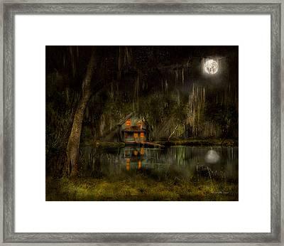 Cabin - De Land, Fl - Restless Night 1904 Framed Print by Mike Savad