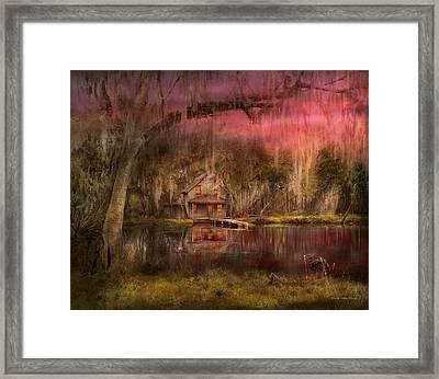 Cabin - De Land, Fl - Summer Cottage 1904 Framed Print by Mike Savad