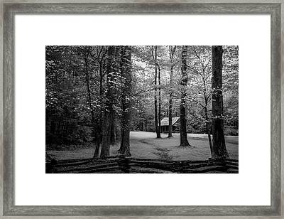 Cabin In Cades Cove Framed Print by Jon Glaser