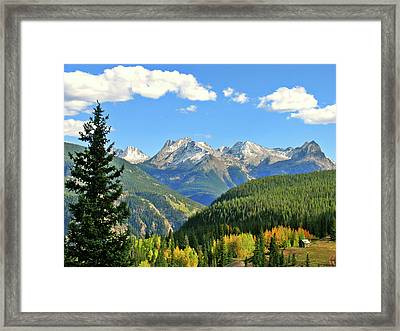 Cabin In The San Juans Framed Print by Scott Mahon