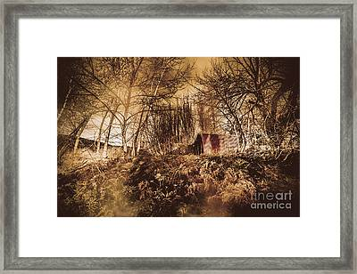 Cabin In The Woods Framed Print by Jorgo Photography - Wall Art Gallery