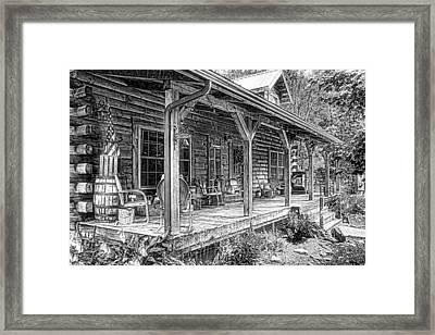 Cabin On The Hill Framed Print by Tom Mc Nemar
