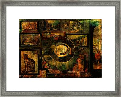 Cabinet Of Curiosities Framed Print by Sarah Vernon