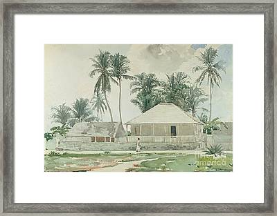 Cabins, Nassau Framed Print by Winslow Homer