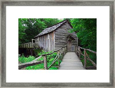 Cable Mill At Cades Cove, Great Smoky Framed Print by Panoramic Images