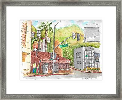 Cabo Cantina, Sunset Blvd And Sweetzer Ave., West Hollywood, California Framed Print by Carlos G Groppa