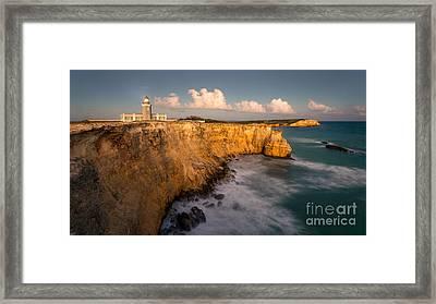 Cabo Rojo Lighthouse At Dusk Framed Print by Ernesto Ruiz