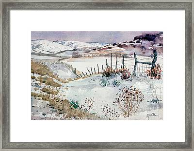 Cache Valley Meadows  Framed Print by Donald Maier
