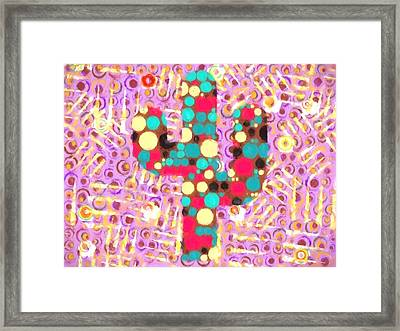Cactus Pop Art Framed Print by Dan Sproul