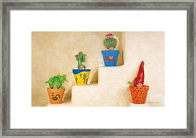 Cactus Pots Framed Print by Anne Geddes