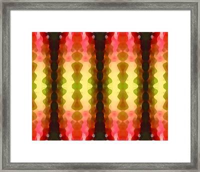 Cactus Vibrations 1 Framed Print by Amy Vangsgard