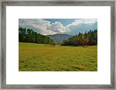 Cades Cove Pasture Framed Print by Michael Peychich