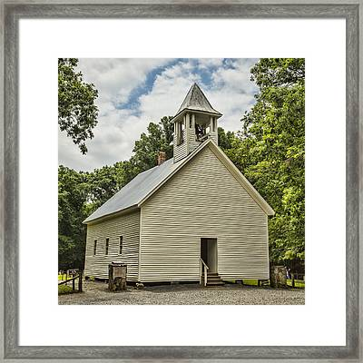 Cades Cove Primitive Baptist Church Framed Print by Stephen Stookey