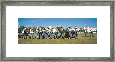 Cadet Review, The Citadel, Charleston Framed Print by Panoramic Images