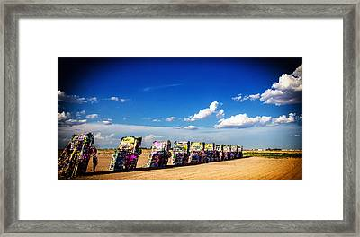 Cadillac Ranch Framed Print by Gestalt Imagery