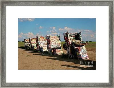Cadillac Ranch Framed Print by Brooke Roby