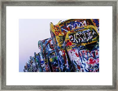 Cadillac Ranch Framed Print by Jeremy Woodhouse