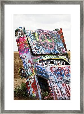 Cadillac Ranch Framed Print by Marilyn Hunt