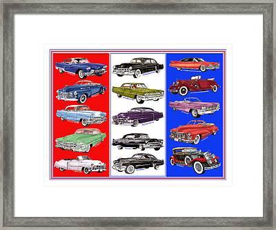 15 Cadillacs The Poster Framed Print by Jack Pumphrey