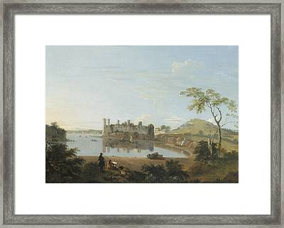 Caernarvon Castle Framed Print by Richard Wilson