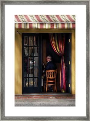Cafe - Brunch Framed Print by Mike Savad