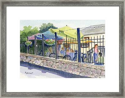 Cafe At Lock 29 Framed Print by Marsha Elliott