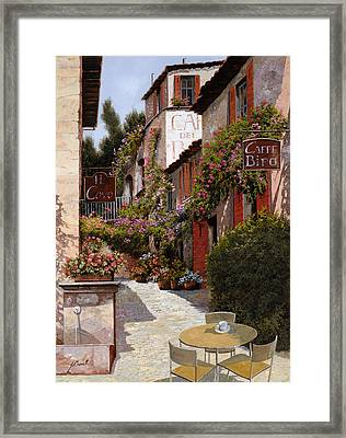 Cafe Bifo Framed Print by Guido Borelli