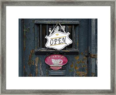 Cafe Cappuccino Framed Print by David Lee Thompson