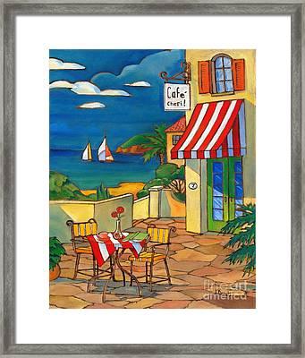 Cafe Cheri Framed Print by Paul Brent