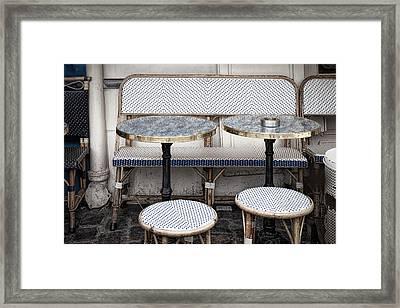 Cafe For Two Framed Print by Andrew Soundarajan
