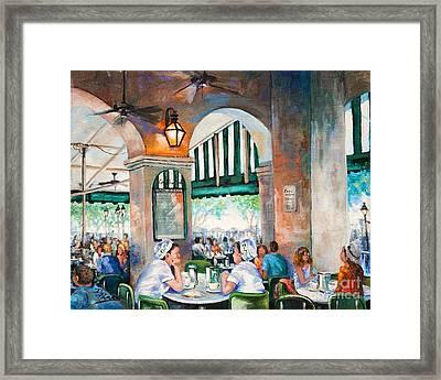 Cafe Girls Framed Print by Dianne Parks