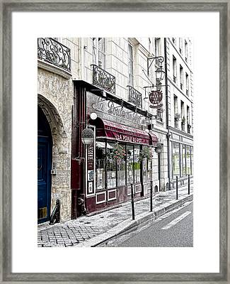 Cafe In Paris Framed Print by J Pruett