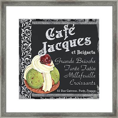 Cafe Jacques Framed Print by Debbie DeWitt